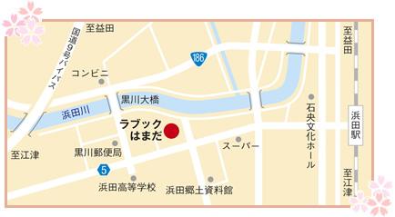 中央図書館付近の地図画像