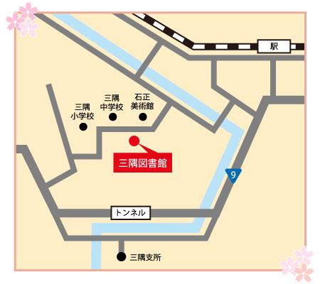 三隅図書館付近の地図画像
